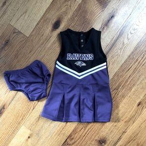 RAVENS Purple & Black 3T Toddler Girls Cheer Dress